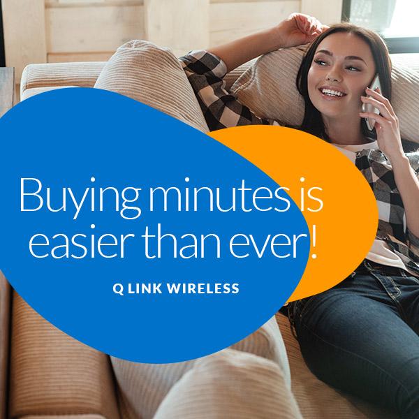 buy minutes q link