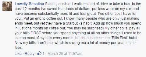 """""""Put an end to coffee out. Add up how much you spend in just one month on coffee out. You may be surprised!"""""""