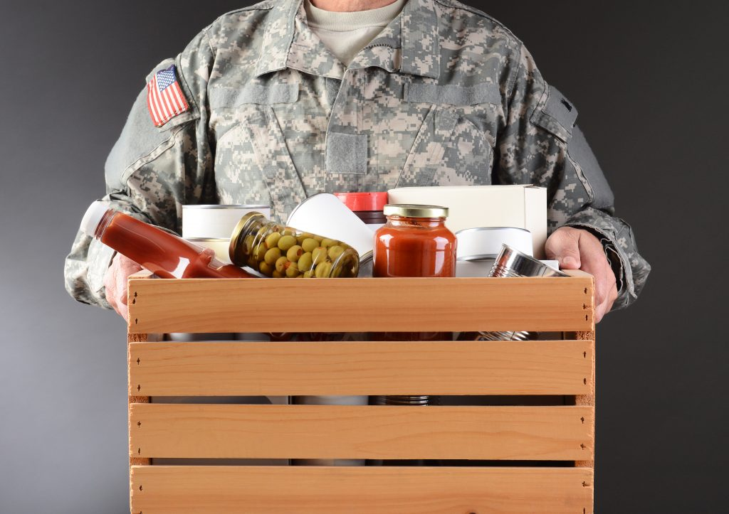 save money on food with the military