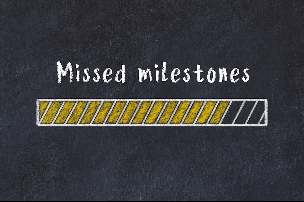 how to deal with missing big milestones