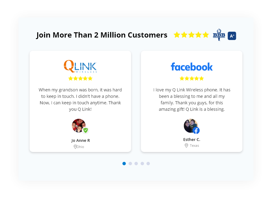 testimonials of people who have switched to q link wireless and loved their free phone service