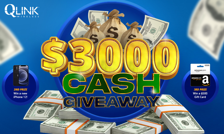$3,000 giveaway